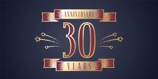 30 do aniversário da celebração anos de ícone do vetor, logotipo Foto de Stock Royalty Free