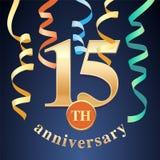 15 do aniversário da celebração anos de ícone do vetor, logotipo Fotos de Stock
