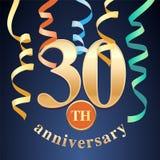 30 do aniversário da celebração anos de ícone do vetor, logotipo Imagens de Stock