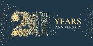 20 do aniversário da celebração anos de ícone do vetor, logotipo ilustração do vetor