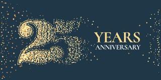 25 do aniversário da celebração anos de ícone do vetor, logotipo ilustração do vetor