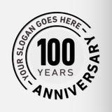 100 do aniversário da celebração anos de molde do projeto Vetor e ilustração do aniversário Cem anos de logotipo ilustração royalty free