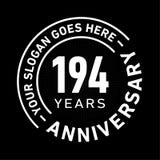 194 do aniversário da celebração anos de molde do projeto Vetor e ilustração do aniversário 194 anos de logotipo ilustração do vetor