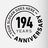 194 do aniversário da celebração anos de molde do projeto Vetor e ilustração do aniversário 194 anos de logotipo ilustração royalty free