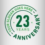 23 do aniversário da celebração anos de molde do projeto Vetor e ilustração do aniversário Vinte e três anos de logotipo ilustração royalty free