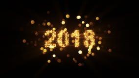 Do ano novo da celebração gráfico 2018 de computador Imagens de Stock