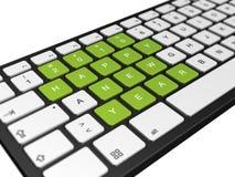 Do ano novo teclado 2010 de computador ilustração stock