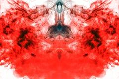 Do ardor do fumo, a aumentação fogo para cima como uma coluna, a repetição do movimento do ar vermelho e alaranjado, a ondulação  foto de stock royalty free