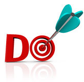 Do Arrow In 3D Word Take Action Go Forward Stock Images