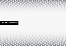 Do assoalho quadrado cinzento da perspectiva do teste padrão do molde do sumário fundo branco com espaço da cópia Formas geométri ilustração do vetor