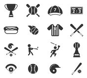 Do basebol ícones simplesmente Fotos de Stock Royalty Free