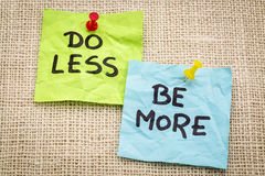 Do less be more motivation Royalty Free Stock Images
