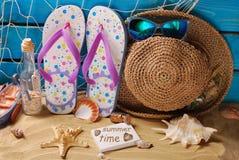 Do beira-mar das férias de verão vida ainda Foto de Stock