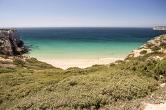 Do Beliche beach in portugal Stock Photos