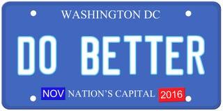 Do Better Washington Royalty Free Stock Photo