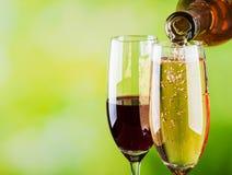 do białego wina Fotografia Stock