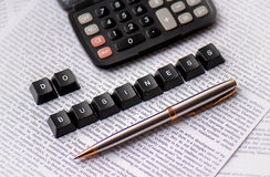 Do business, calculate your money... Royalty Free Stock Photography