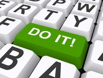 Do it button on keyboard Royalty Free Stock Photos