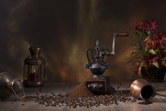 Do café vida ainda no estilo rústico Fotos de Stock