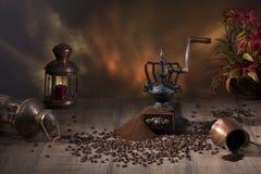 Do café vida ainda no estilo rústico Foto de Stock