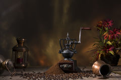 Do café vida ainda no estilo rústico Fotografia de Stock Royalty Free