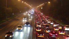 2do camino de la corteza de Pekín en la noche HD metrajes