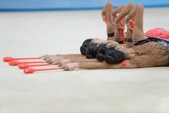 32do Campeonatos del mundo de la gimnasia rítmica Foto de archivo
