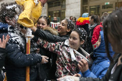 2do carnaval del ` s del storico del centro en Nápoles 2017 Fotografía de archivo libre de regalías