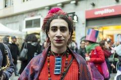 2do carnaval del ` s del storico del centro en Nápoles 2017 Fotografía de archivo