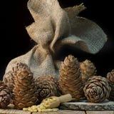 Do cedro vida na tabela, alimento saudável ainda, séquito natural Fotos de Stock