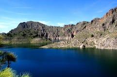 DO Cenajo - presa del lago en el río de Segura (España) fotografía de archivo libre de regalías