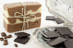 Do chocolate da sopa vida Handmade ainda Fotografia de Stock Royalty Free