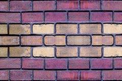 Do close-up bege escuro vermelho do projeto da areia do retângulo da pedra da terracota da parede de tijolo base horizontal imagens de stock royalty free