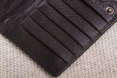 Do close-up da bolsa, textura da pele, Imagens de Stock Royalty Free