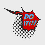 Do it Comic Book Bubble Text. On a dots pattern background in Pop-Art Retro Style Royalty Free Stock Photo
