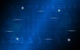 Do conceito abstrato da tecnologia digital do vetor fundo geométrico do projeto do teste padrão ilustração stock