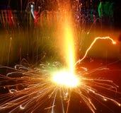 ` Do ` de Charka do ` e do Tubri do ` os fogos-de-artifício revolvendo famosos na Índia Fotografia de Stock