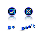 Do do not symbol with text Stock Image