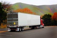Do dorminhoco caminhão semi imagem de stock