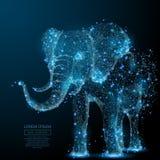 Do elefante azul poli baixo ilustração royalty free