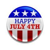 ô do emblema de julho Fotografia de Stock Royalty Free