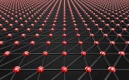 Do espaço fundo escuro poli poligonal abstrato baixo Foto de Stock