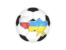 Do euro esfera 2012 de futebol Ilustração Stock