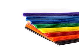 Do fim plásticos ondulados acima - Fotos de Stock Royalty Free