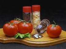 Do frasco com especiarias e toma Imagens de Stock