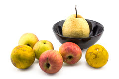 Do fruto vida misturada ainda no fundo branco Fotos de Stock Royalty Free