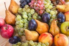 Do fruto vida outonal ainda no fundo de madeira rústico da tabela Imagem de Stock Royalty Free