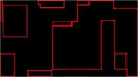 Do fundo linear digital abstrato dos cubos de HD animztion 2D movimentos filme