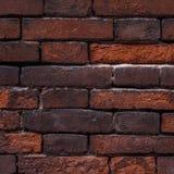Do fundo velho da parede de tijolo de Fark cor vermelha, fim acima Tex do vintage Imagem de Stock Royalty Free