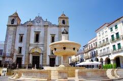Do Giraldo square, Evora, Portugal Stock Image